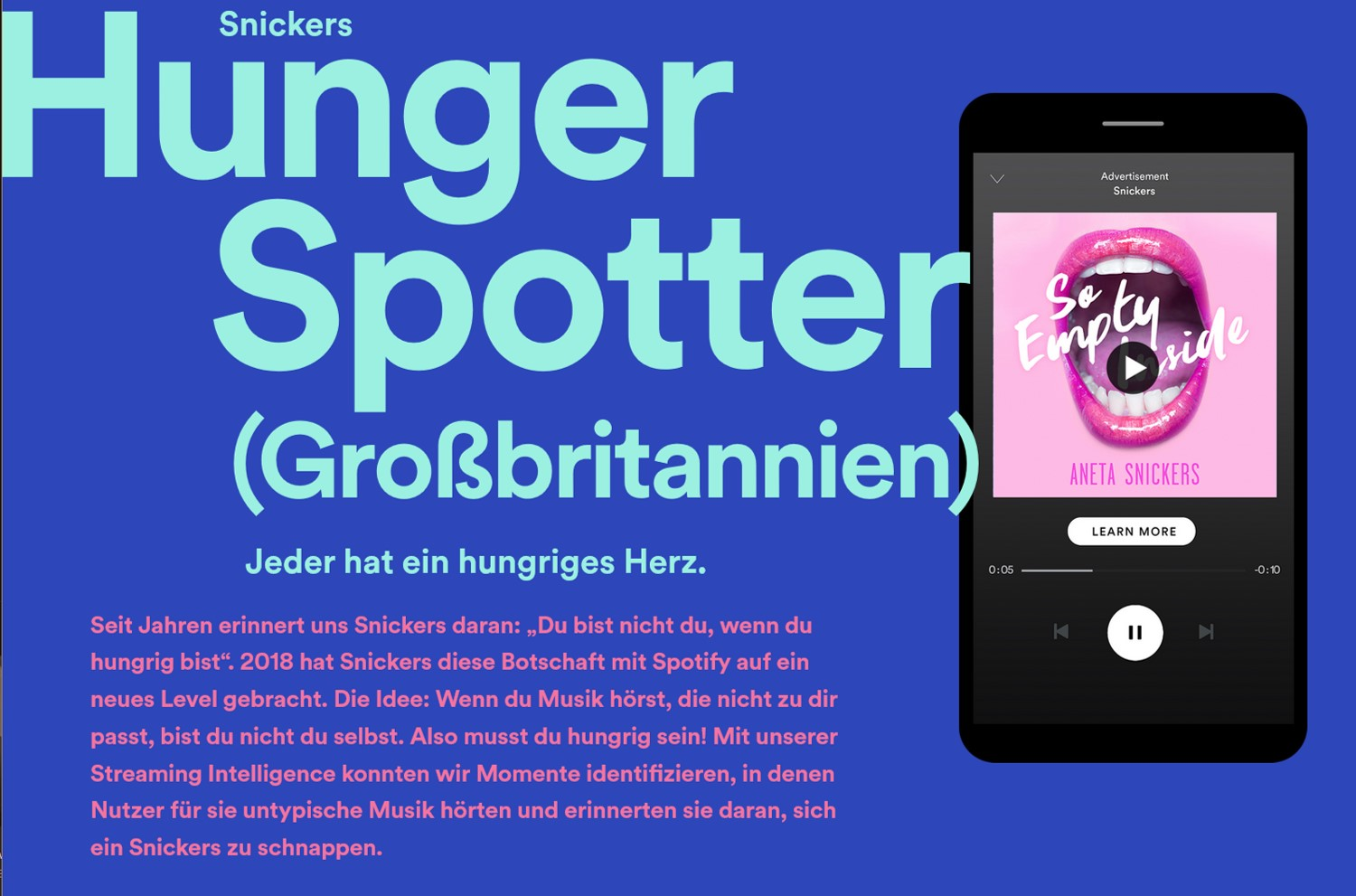 spotify snickers advertising